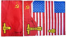 Autographed Apollo-Soyuz Flags