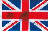 Flown & Autographed British/United Kingdom Flag