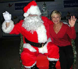 Council Member Constance Scott with Santa on XMas Eve 2011