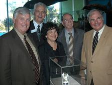 Gathering at Dedication: NASA Director James Kennedy, Mueseum CEO James Rollings, West Palm Beach Mayor Lois Frankel, Nasa Astronaut Dr. Edgar Mitchell, and Museum Chairman of the Board Erik Edward Joh