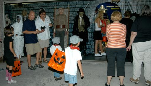 Guests gathering at our Dungeon in 2009