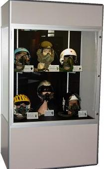International Flight and Space Helmet Collection on Display at the Museum of Discovery & Science in Fort Lauderdale, Florida