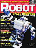 I-Sobot on the front cover of Robot Magazine