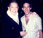 Richard Newman with Milton Berle during rehearsal