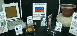 In the middle is Drivers License on display at the Museum of Discovery & Science in Fort Lauderdale, Florida.