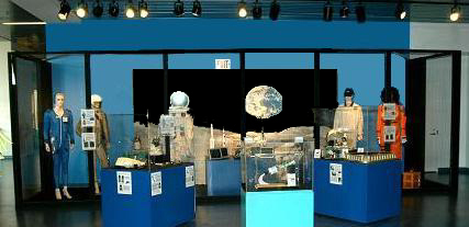 Here are our space artifacts on display at the Museum of Discovery & Science in Fort Lauderdale, Florida.