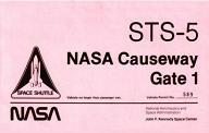 NASA STS-5 Gate 1 Pass