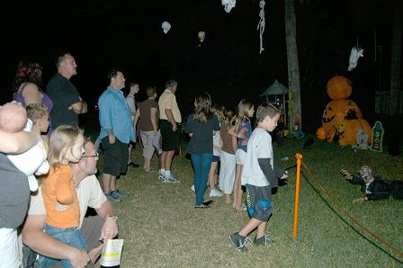 People gather to watch our 2010 Halloween show�