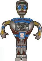 Our Radio Shack Inflatable Robot