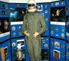 Here is one of our High Altitude Suits on display at the South Florida Science Museum in West Palm Beach, Florida.