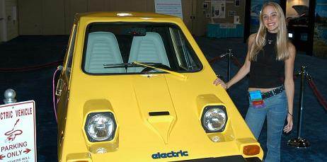 One of our electric cars on display at the Department of Energy's Clean Cities Expo in Fort Lauderdale, Florida.