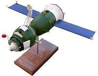 Soyuz T Manned Spacecraft Model