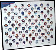 Framed Space Shuttle Mission Patches Poster