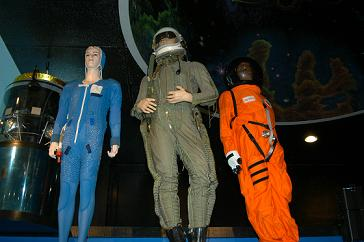 Part of the HighTechScience.org Space Suit Collection on Display at the South Florida Science Museum