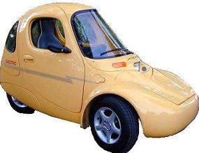 A Yellow Sparrow Electric Vehicle